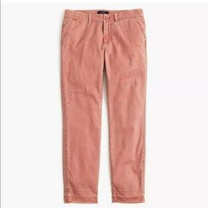 J. CREW Distressed Boyfriend Chino Pant Size 6
